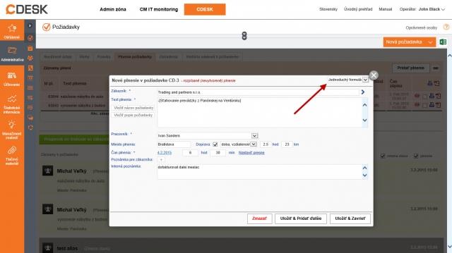 Nový formulář pro přidávání plnění v požadavku - zjednodušený / úplný