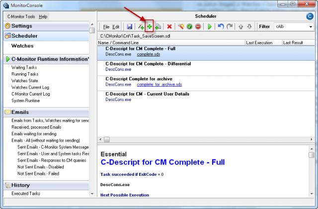 Pridanie novej úlohy pre spúšťanie ScreenSaver aplikácie